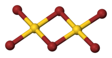 Ball-and-stick model of gold(III) bromide