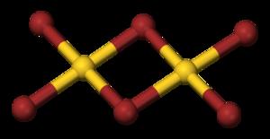 Gold(III) bromide - Image: Gold tribromide dimer 3D balls