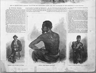 Harper's Weekly - Portraits of escaped slave Gordon (July 4, 1863)