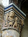Gournay-en-Bray (76), collégiale St-Hildevert, chœur, 3e grande arcade du sud, chapiteau côté est 3.jpg