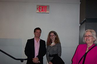 New York Asian Film Festival - (left to right) Grady Hendrix (New York Asian Film Festival founding member) and Alexandra Swords (radio personality)