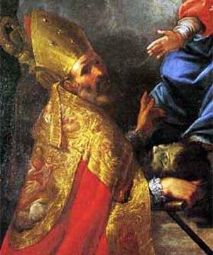 Gratus of Aosta - Saint Gratus, with the head of Saint John the Baptist