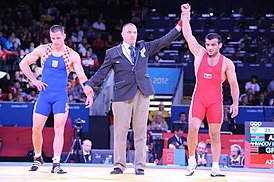 Greco-Roman wrestling competition of the London 2012 Games 3.jpg