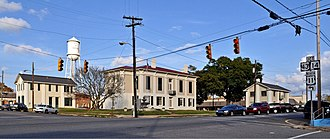 Greene County Courthouse Square District - Image: Green County Courthouse Square at Eutaw, AL