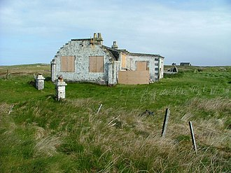 Grimsay (South East Benbecula) - An unusual abandoned building on Grimsay