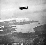 Grumman F6F Hellcats of VF-8 in flight over Luzon, Philippines, in September 1944.jpg