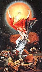 Zbawienie przez zmartwychwstanie w chrześcijaństwie - obraz Matthiasa Grünewalda