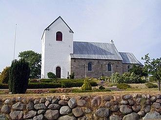 Storvorde - Gudum Kirke (church) Storvorde, Aalborg Kommune, Denmark.