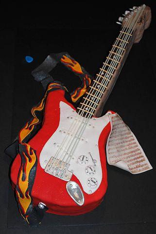 Acoustic Guitar Cake Topper