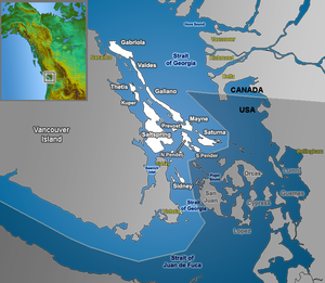 Pender Island - Image: Gulf Islands map