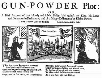 Gunpowder Plot - A late 17th or early 18th-century report of the plot.