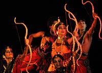 Guru Sanchita Performing The draupadi phenomenon (Tolly 1).jpg