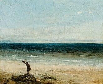 The Seaside at Palavas - Image: Gustave Courbet Le bord de mer à Palavas (1854)