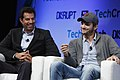 Guy Oseary and Ashton Kutcher of A-Grade speak onstage at TechCrunch Disrupt NY 2013, 2.jpg
