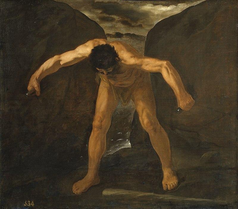 Hércules separa los montes Calpe y Abyla, por Zurbarán.jpg