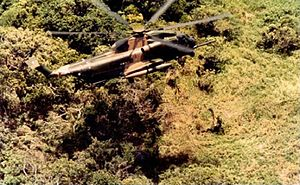Sikorsky MH-53 - An HH-53C lowering a PJ during a rescue mission, June 1970