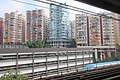 HK 觀塘 Kwun Tong Station platform view 月華街 Yuet Wah Street residential buildings Kai King Fair View Good View Wah Lai Hoi King Tai Hong Tin Sing October 2018 IX2 02.jpg