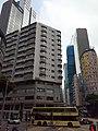 HK 香港電車 tram 118 view 灣仔 Wan Chai 莊士敦道 Johnston Road Chung Wui Mansion Fleming Road Prime Mansion facades October 2019 SS2 01.jpg