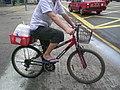HK Restaurant Uniform 食肆White shirt 白制服Flip-flop人字拖鞋 Shorts三個骨褲Martini Bike腳踏單車Box rice 盒飯盒Outdoor waiter 交送貨.JPG