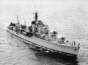 Battle-class destroyer - HMAS Tobruk in 1954