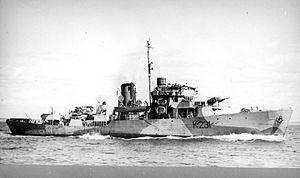 HMCS Calgary (K231) - Image: HMCS Calgary WWII MC 2161