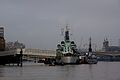 HMS Belfast and F789 on the Thames 1.jpg