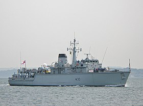 HMS Ledbury (M30) in Portsmouth 2007
