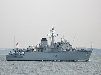 Napier Deltic - The Deltic-powered Hunt class Mine Countermeasures Vessel HMS ''Ledbury''
