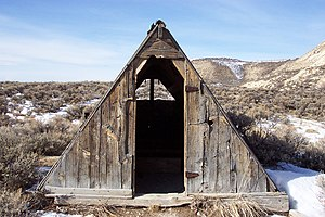 National Register of Historic Places listings in Lincoln County, Wyoming - Image: Haddenham cabin