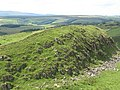 Hadrian's Wall above crags east of Walltown - geograph.org.uk - 1459923.jpg