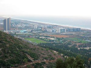 Matam, Haifa - A view of the park from a nearby hill