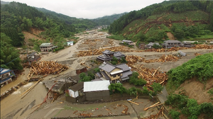 2017 in Japan - A picture show by debris flow by heavy rain in Asakura, Fukuoka Prefecture in 7 July, 2017