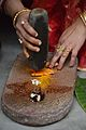 Haldi Paste Making - Upanayana Ceremony - Simurali 2015-01-30 5642.JPG