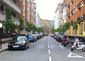 Hallam Street - Tree lined Hallam Street