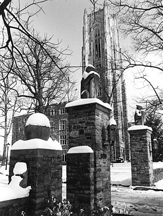 Rhodes College - Halliburton Tower in the snow