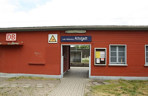 Haltepunkt Luthertstadt Wittenberg Altstadt