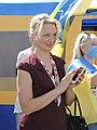 Halyna Kuts at Stand side by side action agains Poroshenko's Pechernyi Court in Kharkiv 2020-06-18 (01).jpg