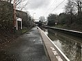 Hamstead Train Station in Birmingham looking towards Walsall line in the distance is the railway bridge carrying cars over the Old Walsall Road - belying this bridge the lines are clear!! Yet we are looking upriver.jpg