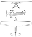 Hanriot H.46 3-view Les Ailes July 13,1928.png
