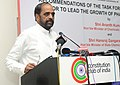 Hansraj Gangaram Ahir addressing at the release of the report of the Task Force on Enabling the Private Sector to Lead the Growth of Pharmaceutical Sector, in New Delhi on June 22, 2015.jpg