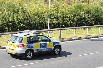 Belfast Harbour Police - Belfast Harbour Police car, June 2010.