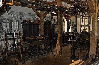 Gunsmith - Re-creation of part of a gun smith shop from the 1850s (photo circa 2015)