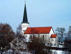 Haugsbygd - Haug Church at Haugsbygd, in Ringerike, Buskerud County, Norway