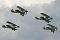 Hawker biplane 4-ship formation - 2011 Flying Legends (7252154266).jpg
