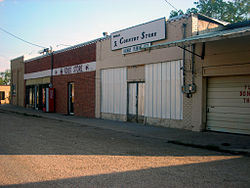 A row of businesses in Hawley.