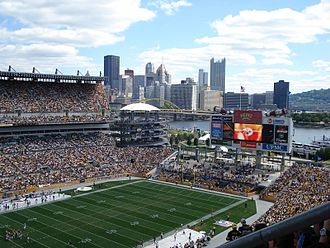 Heinz Field - Heinz Field in 2007 with Downtown Pittsburgh in the background