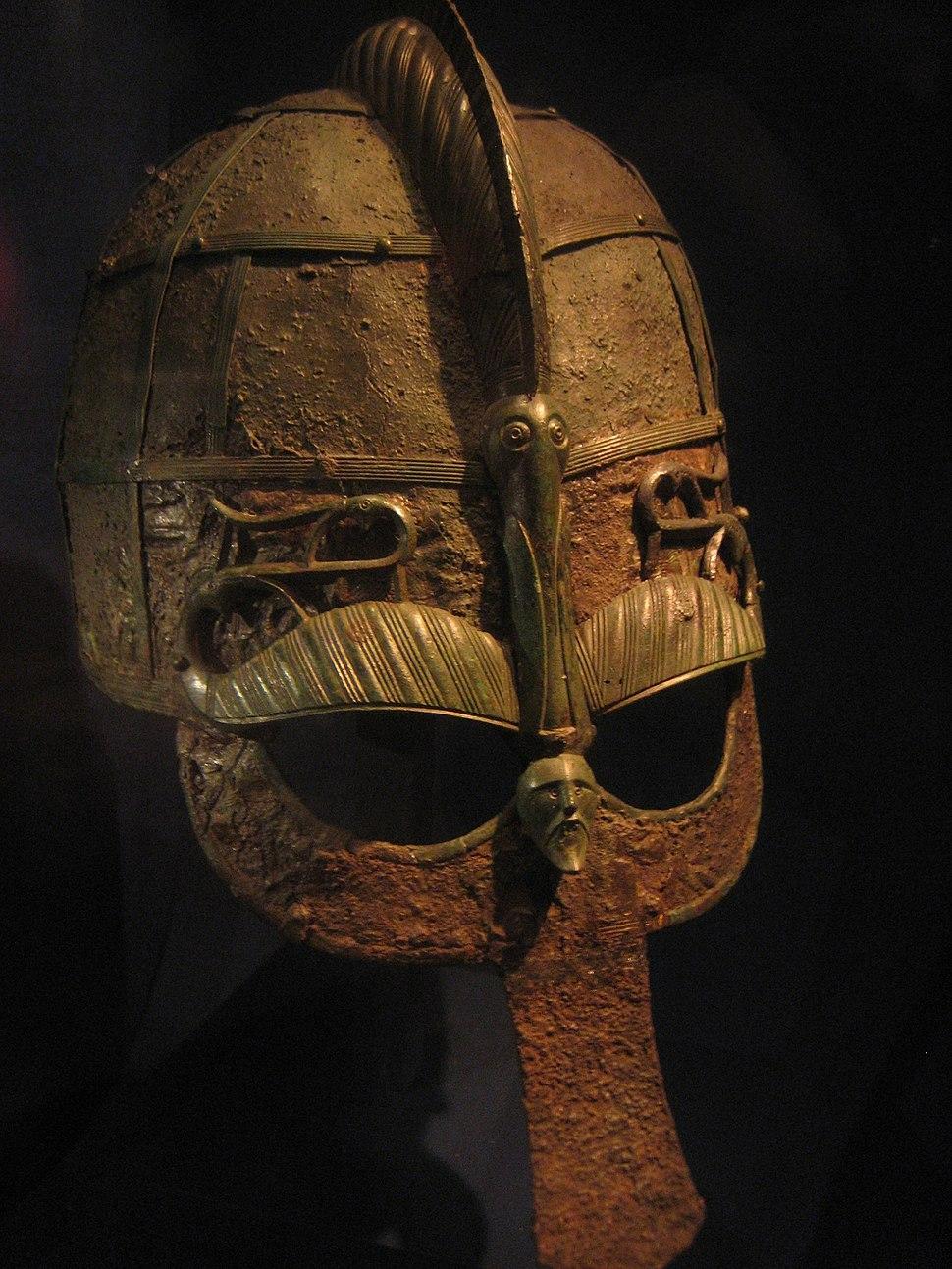 Helmet from a 7th century boat grave, Vendel era