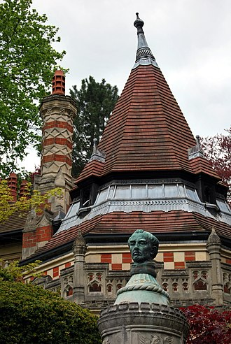 Friar Park - Detail of the roof of the Lower Lodge of Friar Park