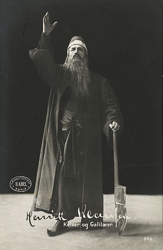 Emperor and Galilean - Henrik Klausen as the mystic Maximus in the play's Oslo premiere (1903)