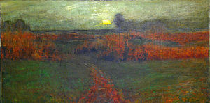 Henry Golden Dearth - Evening Glow (1889), private collection. An example of Dearth's early tonalist style.
